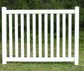 Cape Cod Vinyl Picket Fence Closed Top