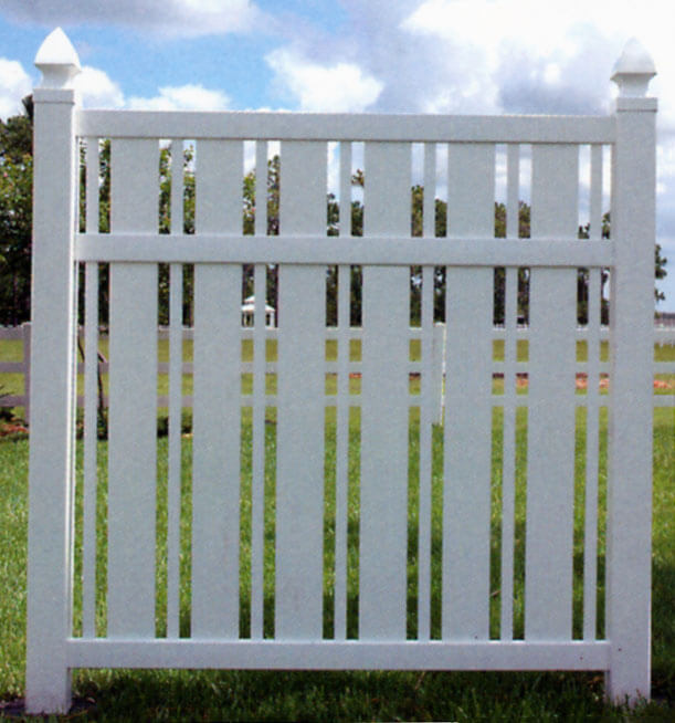Vinyl Semi Privacy Fence