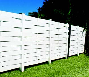 Basketweave Vinyl Privacy Fence