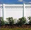 Concord Vinyl Privacy Fence with Lattice Accent