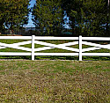 Cross-Buck Post and Rail Vinyl Horse Fence