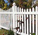 Cape Cod Vinyl Picket Fence - Scalloped Top