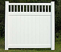 Concord Vinyl Privacy Fence with Stake Accent