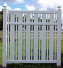 Countess Vinyl Semi Privacy Fence
