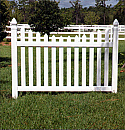 Drive Gate - Cape Cod Picket Scalloped Top